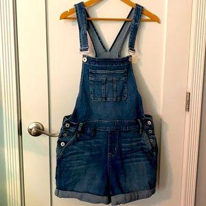 🤩 OMG!!! Torrid Denim Overall Shorts!!! Size 14!
